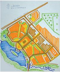 Принципиальная схема формирования микрорайона «Северный»
