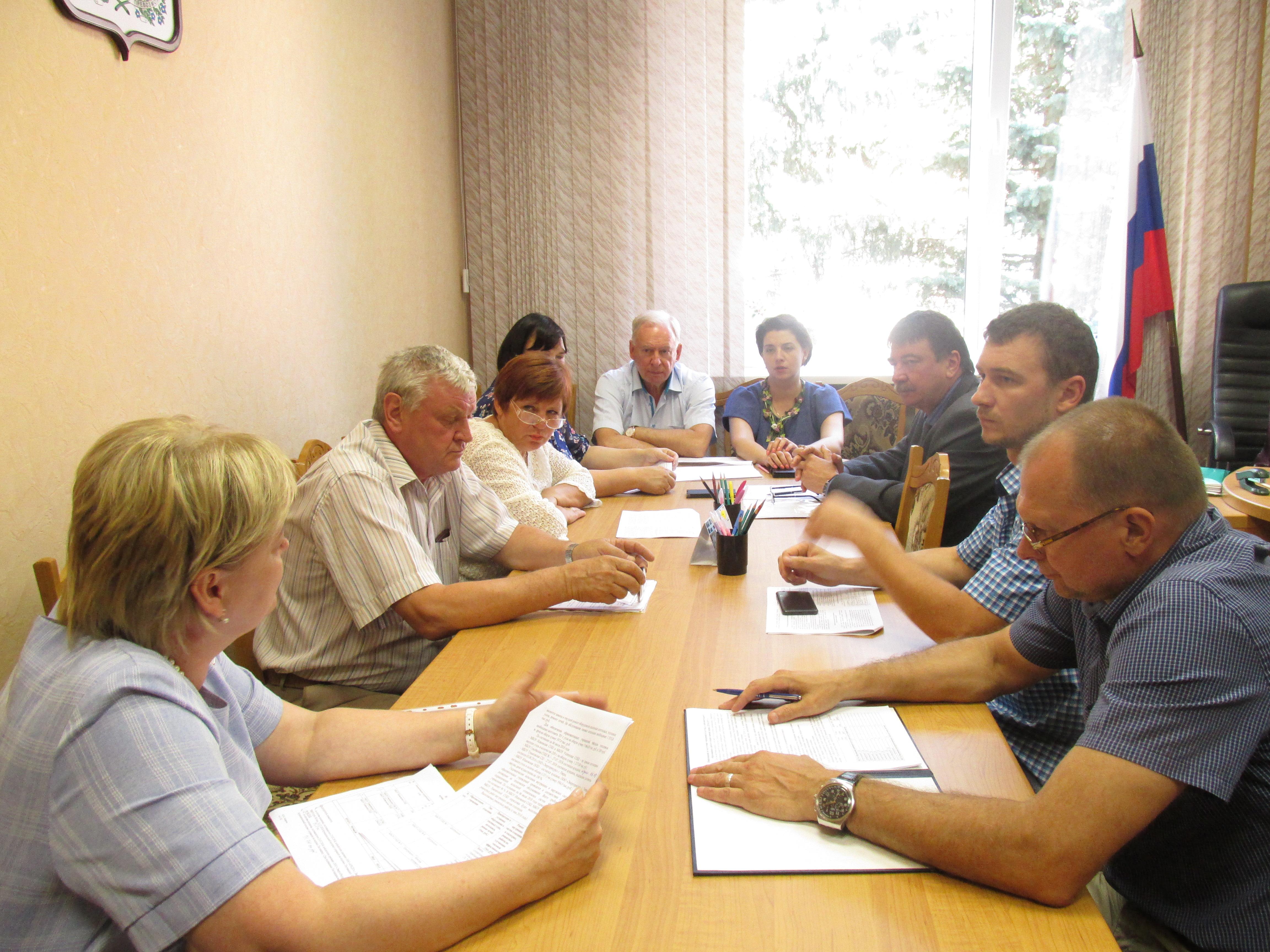 Заседание постоянной комиссии Вяземского районного Совета депутатов по строительству, ЖКХ и транспорту