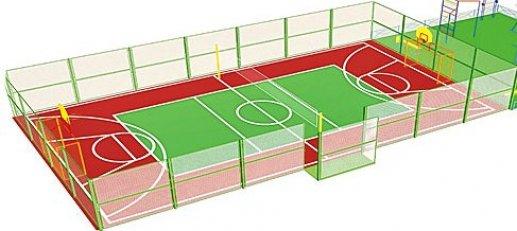 Проект спортивной площадки на территории бассейна был одобрен депутатами