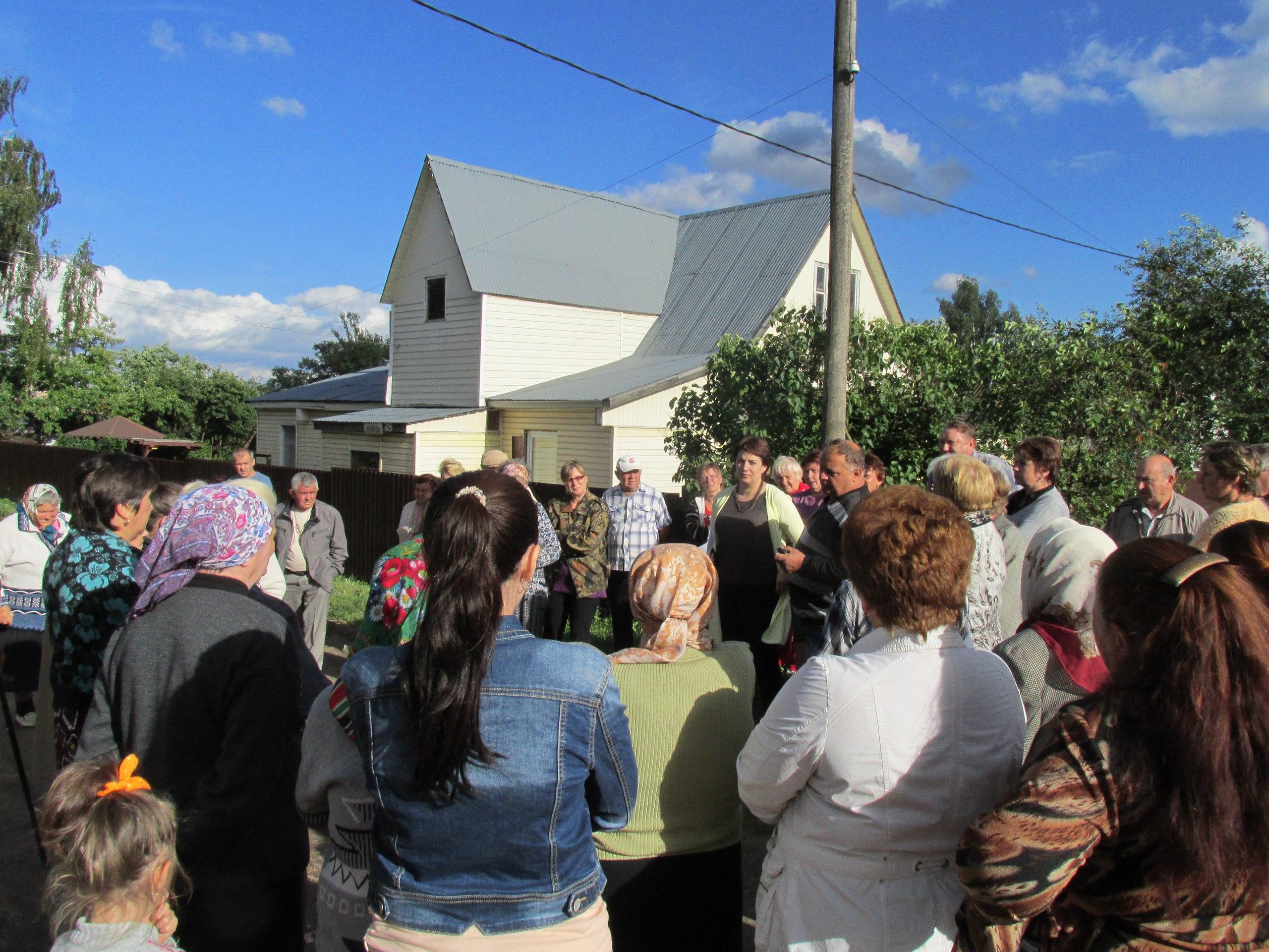 Встреча Главы района с жителями микрорайона